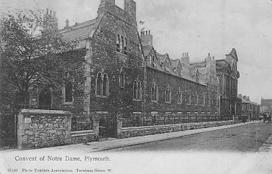 An early picture of the Roman Catholic Convent of Notre Dame, Plymouth