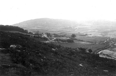 The site upon which Burrator Reservoir was constructed.  The house in the centre of the picture still stands beside the road around the lake.
