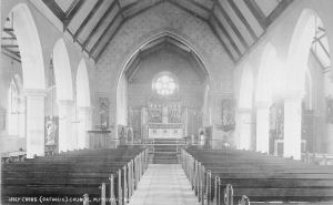 The interior of the Roman Catholic Church of the Holy Cross, Plymouth