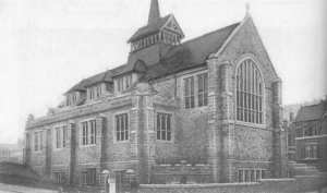 An early picture of St Augustine's Church at Lipson, PLymouth
