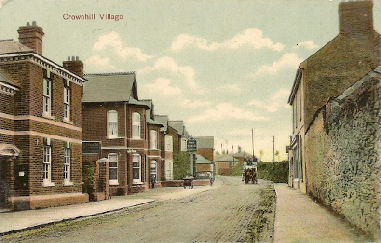 Baskerville's Horse Bus from Roborough to Plymouth passing through Crownhill Village.