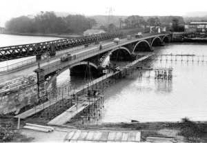 The original Laira Bridge just before the new one was built.